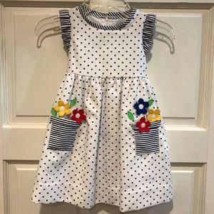 Florence Eiseman 3T Dress Polka Dot Flowers